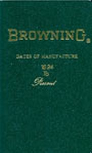 BROWNING DATES OF MANUFACTURE - Auteur: Madis G.